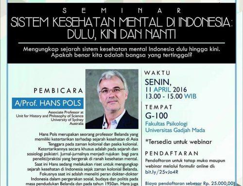 SEMINAR Sistem Kesehatan Mental di Indonesia Dulu, Kini, dan Nanti