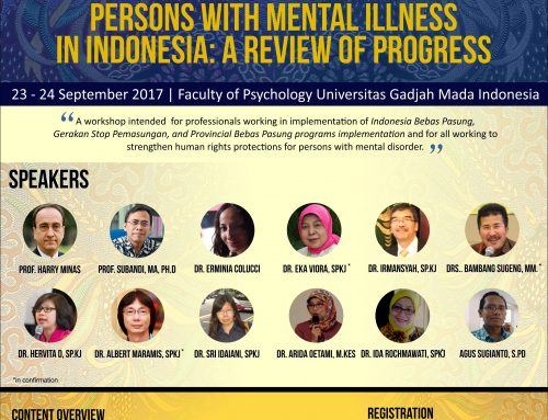 International Workshop – Eliminating Restraint of Persons with Mental Illness in Indonesia: A Review of Progress